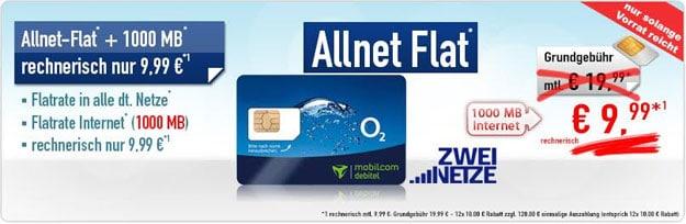 o2 Comfort Allnet Flat - 9,99 EUR