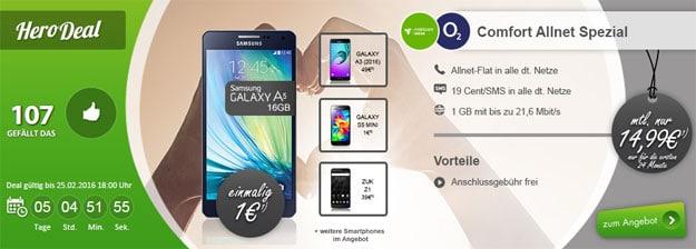 o2 Comfort Allnet mit Galaxy A5