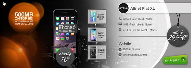 otelo Allnet-Flat XL mit 1,5 GB