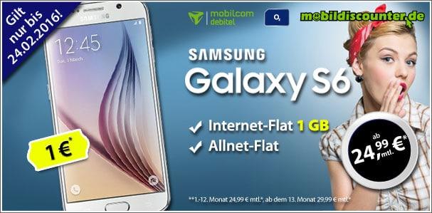 Samsung Galaxy S6 mit o2 Comfort Allnet