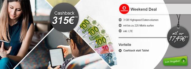 Vodafone DataGo M mit 315 € Cashback