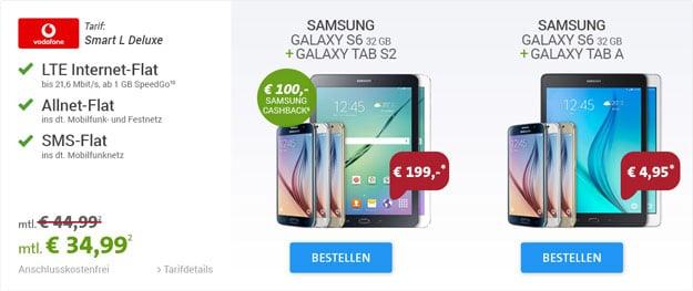 Vodafone Smart L mit Samsung Galaxy S6 und Tab S2