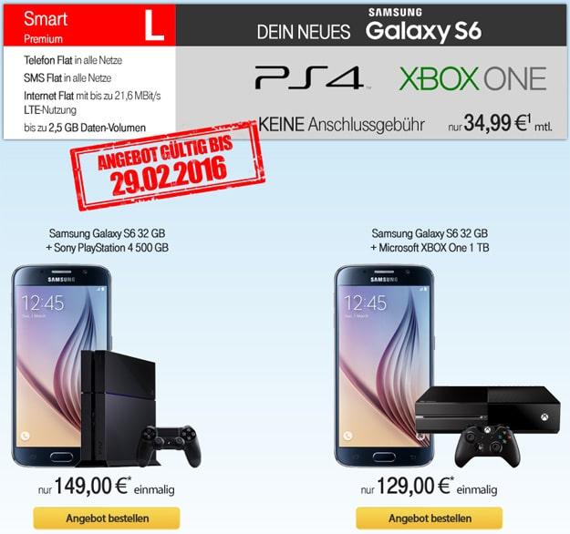 Vodafone Smart L mit S6 und PlayStation 4