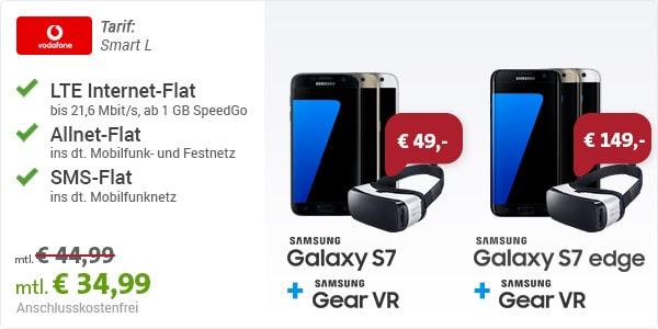 Vodafone Smart L mit Samsung Galaxy S7 und Gear VR