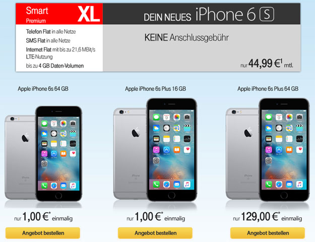 Vodafone Smart XL mit iPhone 6S