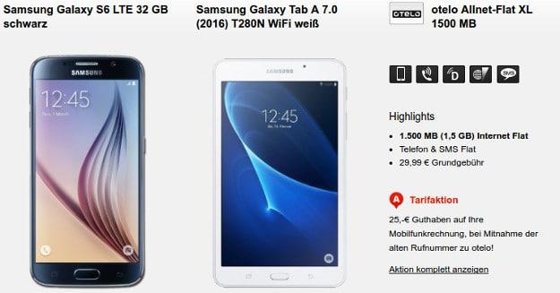 Samsung Galaxy S6 + otelo Allnet-Flat + Tablet