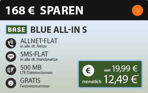 BASE Blue All-in S für 9,99 € im Monat