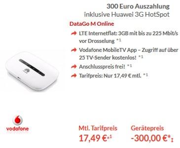 DataGo M mit Huawei 3G Hotspot