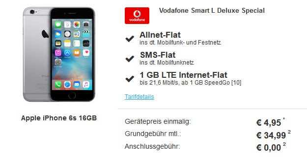 iPhone 6S - Vodafone Smart L
