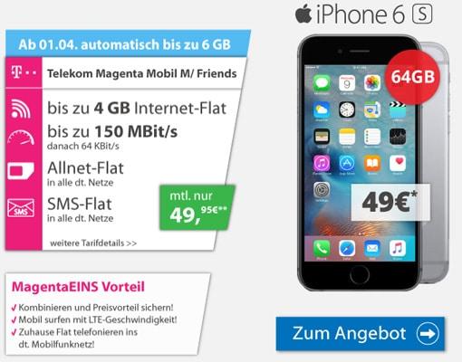 iPhone 6S mit Magenta Mobil M
