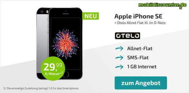 iPhone SE mit otelo Allnet-Flat XL