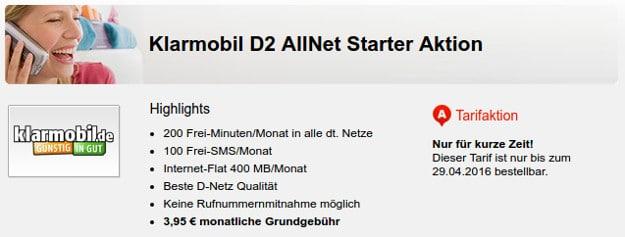 Klarmobil Allnet Starter