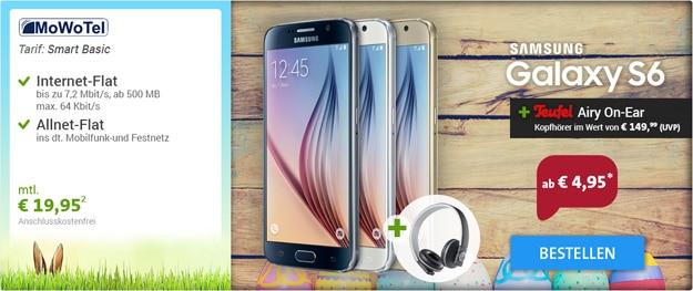 MoWoTel Smart Basic mit Samsung Galaxy S6 und Teufel Airy