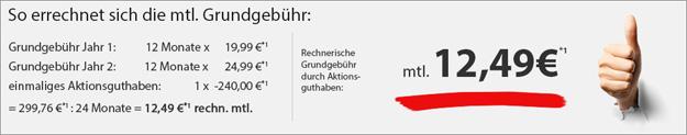 o2 real Allnet (md) für 12,49 € mtl.