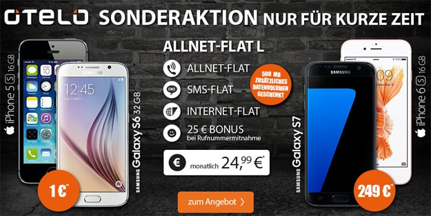 otelo Allnet Flat L mit Samsung Galaxy S7