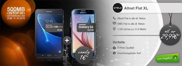 otelo Allnet-Flat XL mit Samsung Galaxy S6