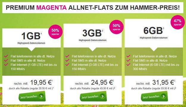 Premium Magenta Mobil Allnet-Flats