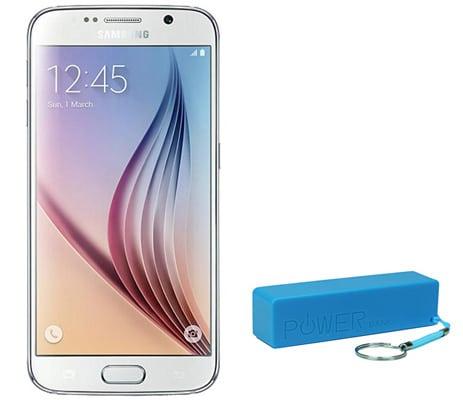 Samsung Galaxy S6 mit Powerbank