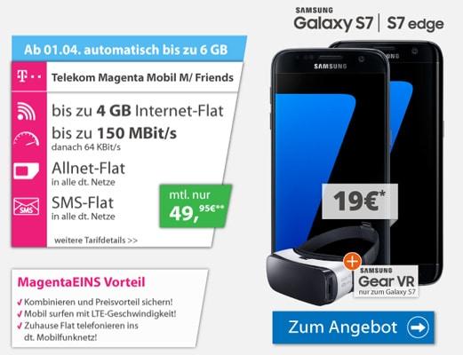 Samsung Galaxy S7 mit Magenta Mobil M