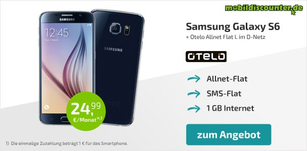 Samsung Galaxy S6 + Otelo Allnet Flat L