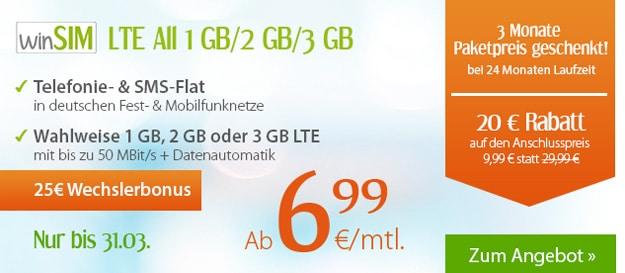 winSIM LTE Allnet-Flats
