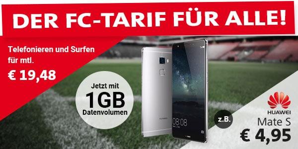 Huawei Mate S mit 1. FC-Köln Tarif
