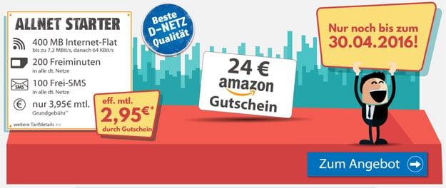 Klarmobil AllNet Starter - 2,95 EUR
