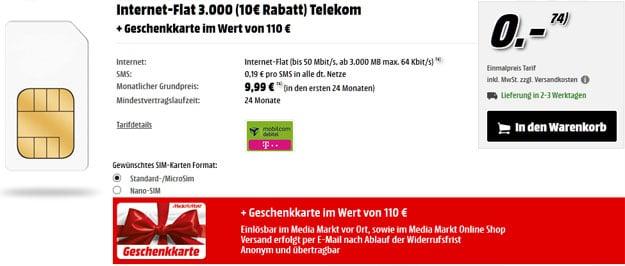 Telekom Internet-Flat 3000