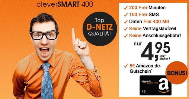 callmobile cleverSMART 400 Bonus-Deal