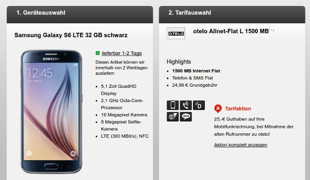 Samsung Galaxy S6 + otelo L