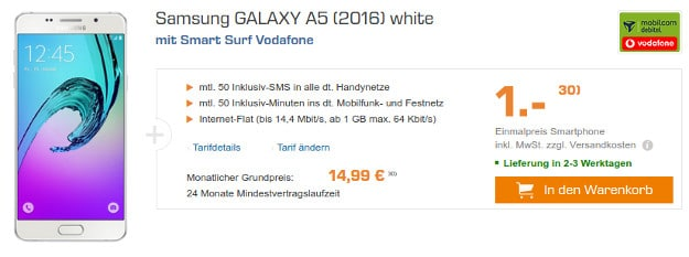 Samsung Galaxy A5 + Smart Surf