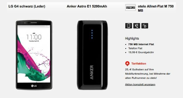 LG G4 + Otelo Allnet-Flat M