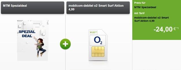 o2 Smart Surf für 3,99 € mtl.