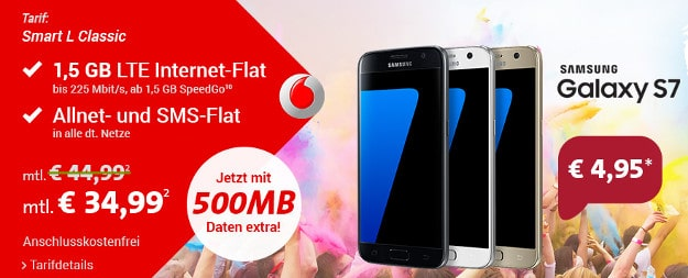 Samsung Galaxy S7 + Vodafone Smart L