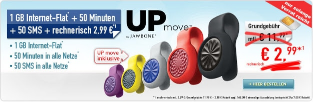 Up move Fitness-Tracker zum Smart Surf 1 GB