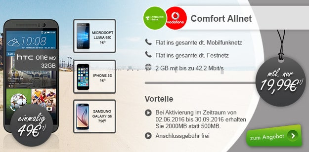 Hero Deal mit Vodafone Comfort Allnet (md)