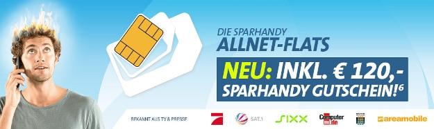 Sparhandy Allnet-Flats mit Gutschein