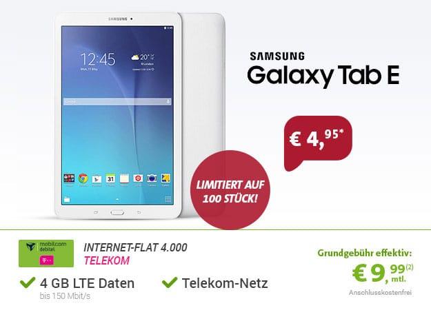 galaxy tab e telekom flat 4gb