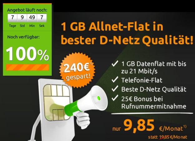 klarmobil Allnet Flat 1000
