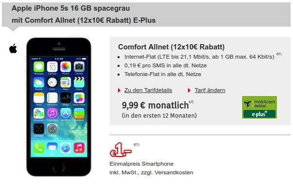 iPhone 5s + E-Plus-Tarif