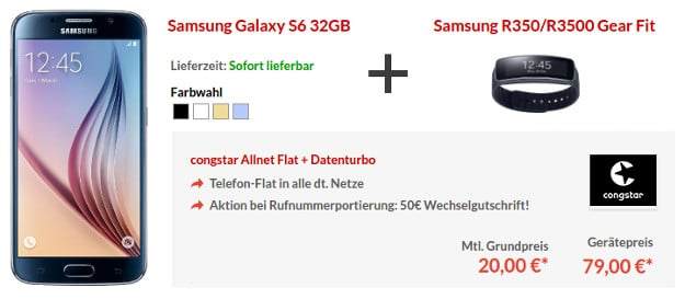 Samsung Galaxy S6 + congstar Allnet Flat