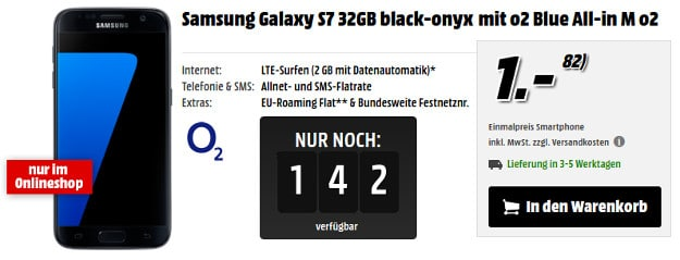 Samsung Galaxy S7 + o2 Blue All-in M