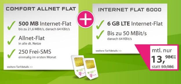 Comfort Allnet-Flat + Internet-Flat 6000