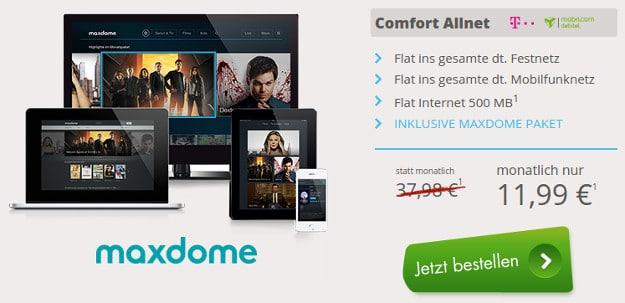 Comfort Allnet + maxdome Paket