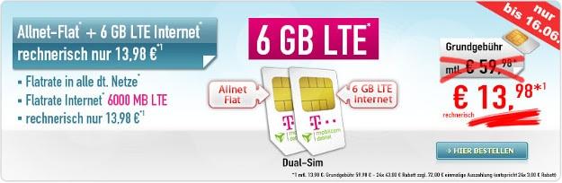 Dual-SIM Allnet Flat + 6GB LTE Flat