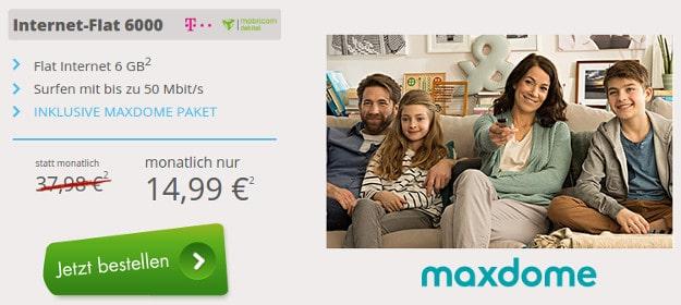 Internet-Flat 6000 + maxdome