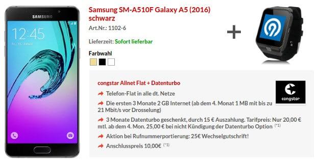 Samsung Galaxy A5 + congstar Allnet Flat