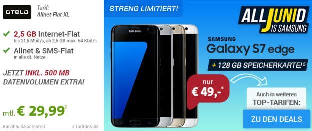 Samsung S7 Edge + otelo Allnet-Flat XL