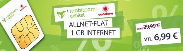 Vodafone Allnet-Flat für 6,99 €