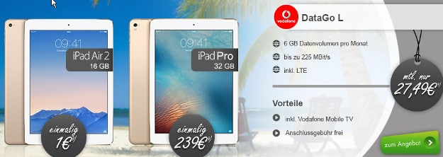 Vodafone Data Go L + Tablets